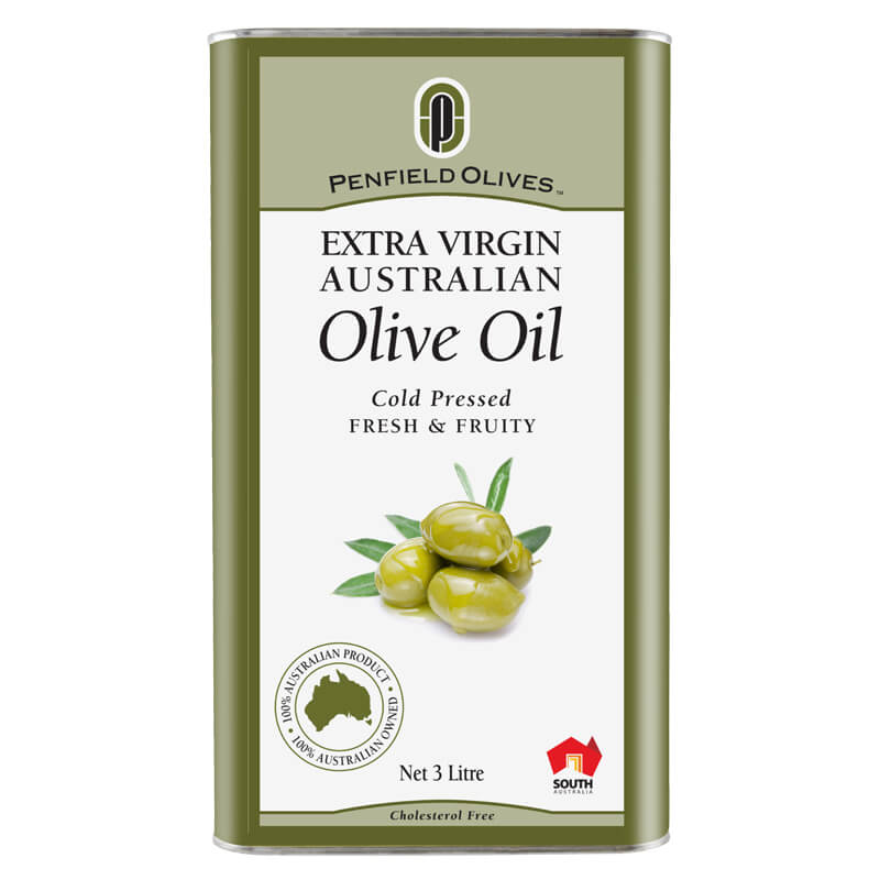 Penfield Olives food service page image of their 3Ltr can extra virgin olive oil.