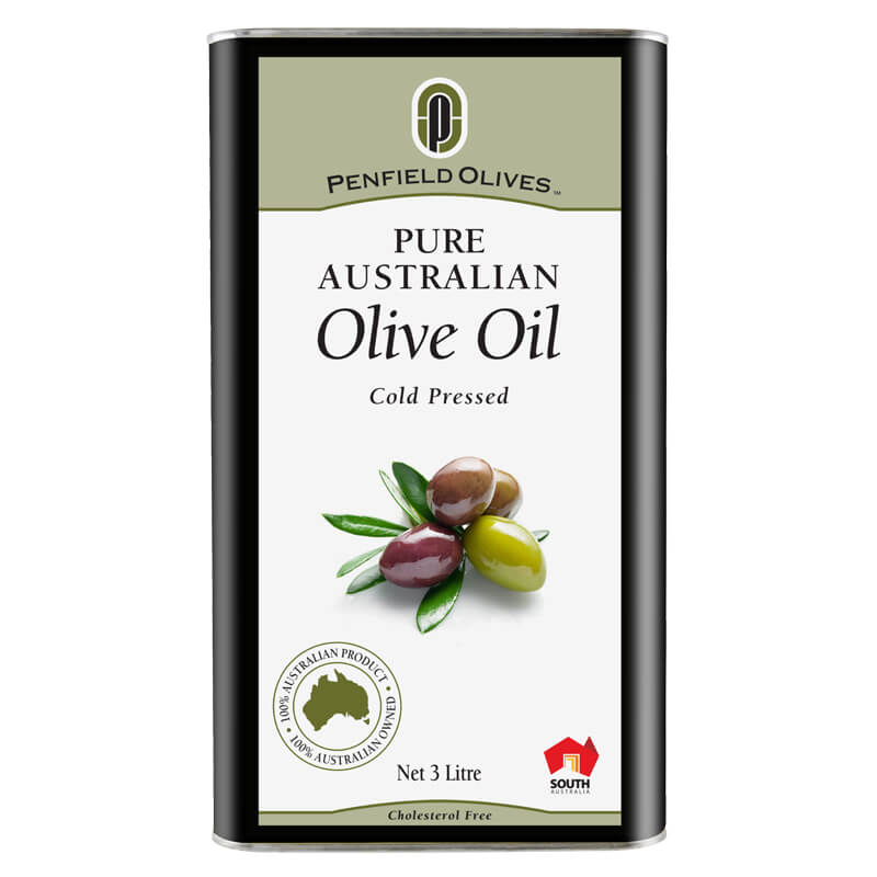 Penfield Olives food service page image of their 3Ltr pure olive oil in a can.